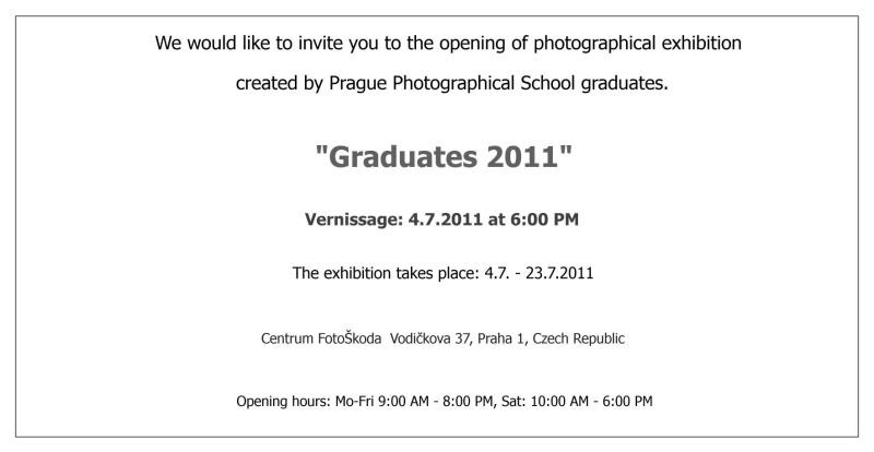 Graduates exhibition